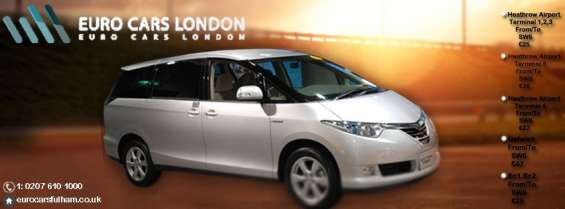 Get a luxury ride from heathrow airport to terminal 5 with euro cars fulham