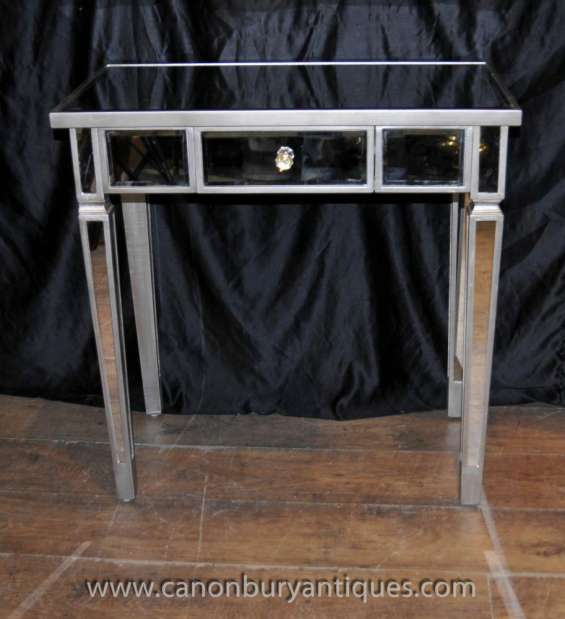 Mirrored console table art deco tables mirror furniture