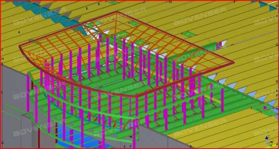Steel structural designing & drafting services