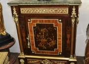 French empire sideboard cabinet marquetry inlay