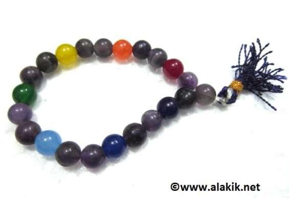 Amethyst chakra beads power bracelet