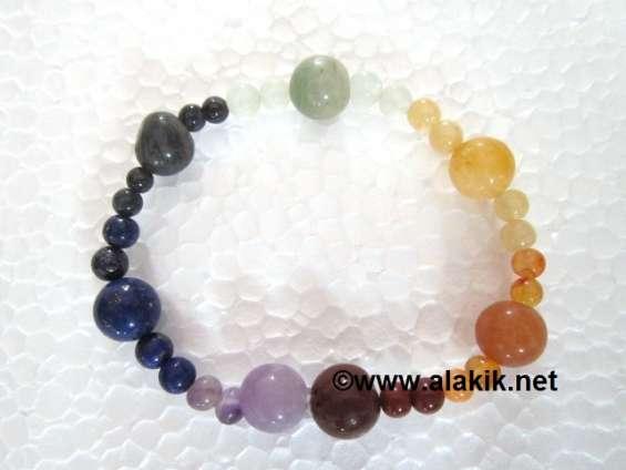7 chakra elastic bracelet 4x1 beads