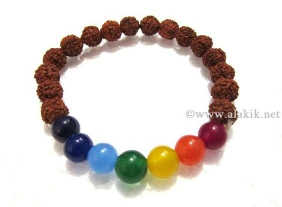 Chakra beads rudraksha bracelet