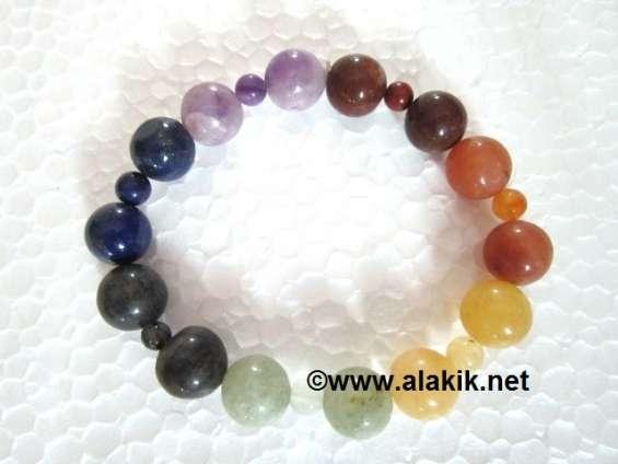 7 chakra elastic bracelet 1x1 beads