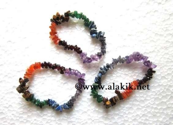 Chakra chips bracelet