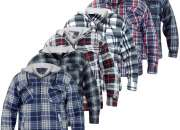 Mens Sherpa Fleece Lined Check Print Faux Fur Jacket Zip Hoodie Winter Coat