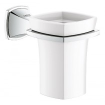 Luxurious grohe grandera holder with ceramic tumbler
