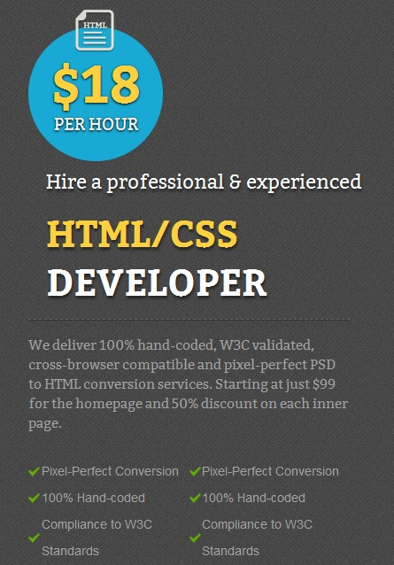 Hire a html/css developer