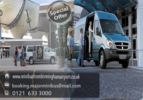 Discounted birmingham to birmingham airport minibus transportation services