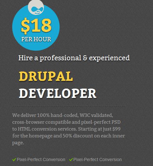 Drupal developers for hire