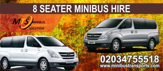 Book 8 seater minibus for night outs in london