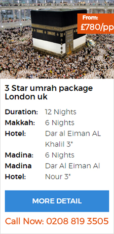 Umrah package london with flights from uk
