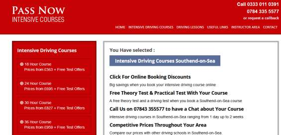 Join most effective driving crash course in southend, call now! 0333 0110391