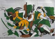 M F Husain Paintings | Modern Indian Painter | M F Husain Serigraphs
