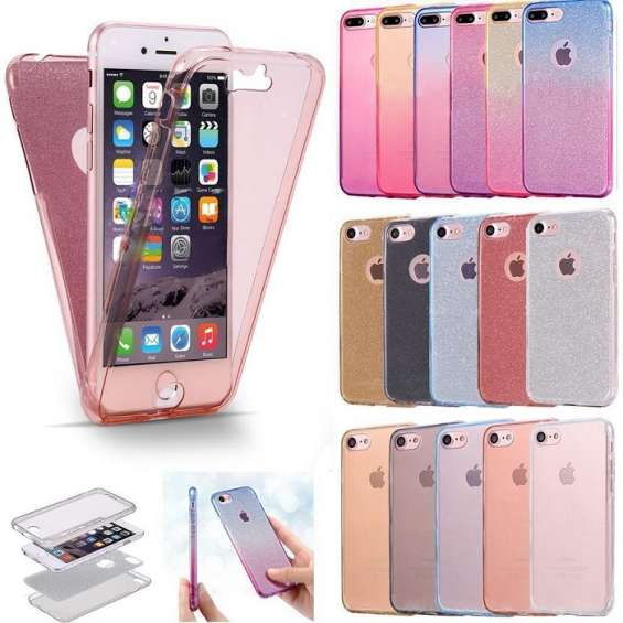 Front & back protection tpu gel cover case for iphone 7/8