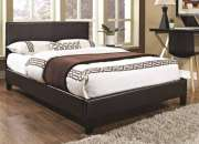 Purchase Modern Faux Leather Bed Frame with Memory Foam Mattress at Cheap Price