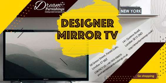 Designer mirror tv