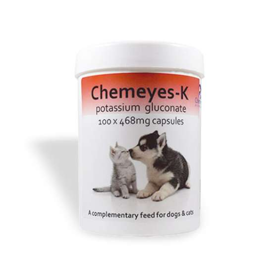 Potassium gluconate supplement for dog & cat - chemeyes pet health solutions