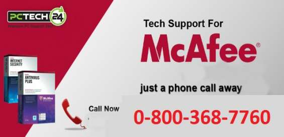 For 24*7 mcafee support services dial 0-800-368-7760