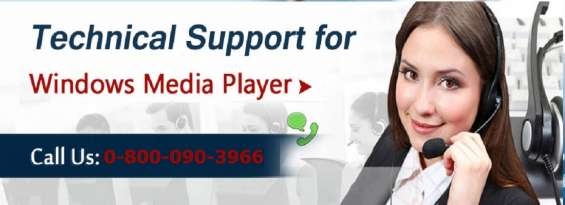 Call 0-800-090-3966 windows media player technical support number