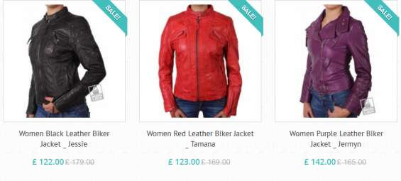 Purchase online women's leather biker coats and jackets in uk
