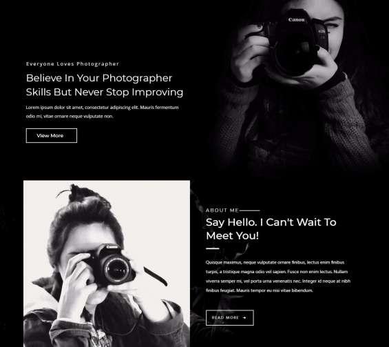 Roobia portfolio wordpress theme for photographers by zozothemes