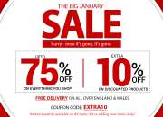 January furniture sale up to 75% + flat 10% off on bedroom furniture