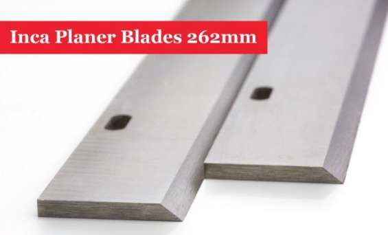 Inca planer blades knives 262mm long with 2 slots - 1 pair @ uk