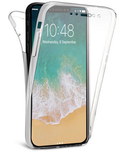 Front & back protection tpu gel clear case cover for iphone series