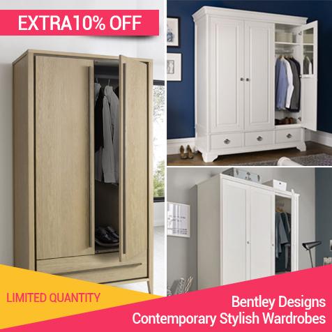 Woodgrain wardrobe start from £99.99 | furniture direct uk