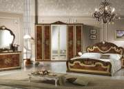 Natalie Walnut Finish Italian Bedroom Set 02
