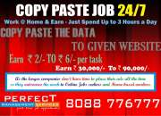 Online job | no registration fee | no investment | bpo semi non voice job
