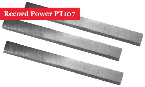 Buy online record power pt107 planer blades knives set 3