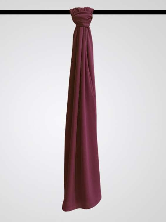 Buy chiffon hijab plum one size