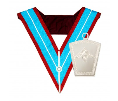 Masonic mark past masters collar with past masters collar jewel