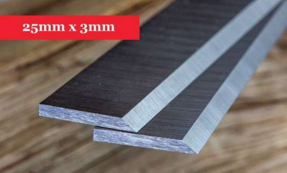 Planer knives 25mm x 3mm - 1 pair online @ woodfordtooling