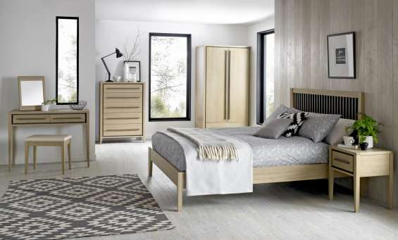 Bentley designs rimini aged and weathered oak bedroom | beds, wardrobe & drawer chest