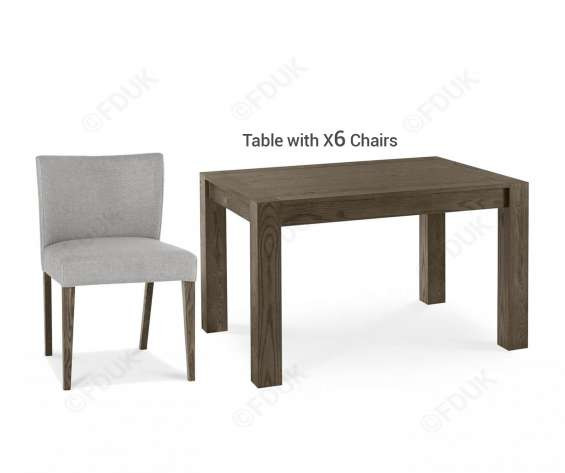 Dining tables sets, dining chairs, chairs, bentley designs turin dark oak small extension dining table with 6 chairs