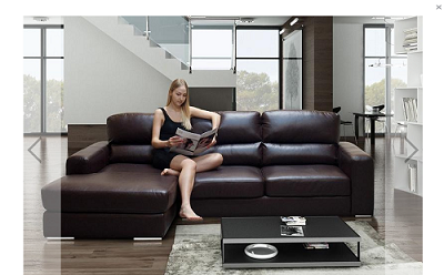 Get high-quality bonded leather corner sofa at a convenient price