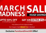 Up to 50% + Extra 5% Off On March Madness Furniture Sale   Furniture Direct UK