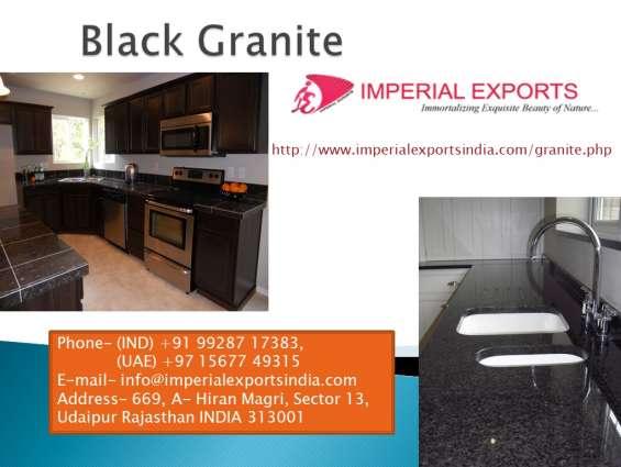 Best quality black granite uk us russia imperial exports india