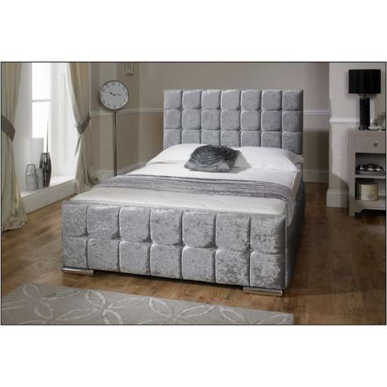Nevada crushed velvet bed