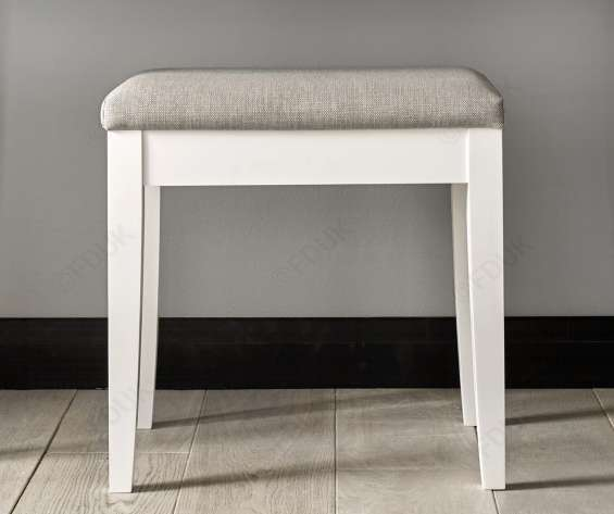 Bentley designs ashby white dressing table stool
