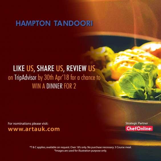 Asian restaurant & takeaway awards | hampton tandoori