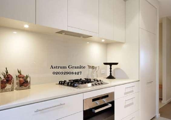 Pictures of Buy crema quartz kitchen worktop at best price in uk 4