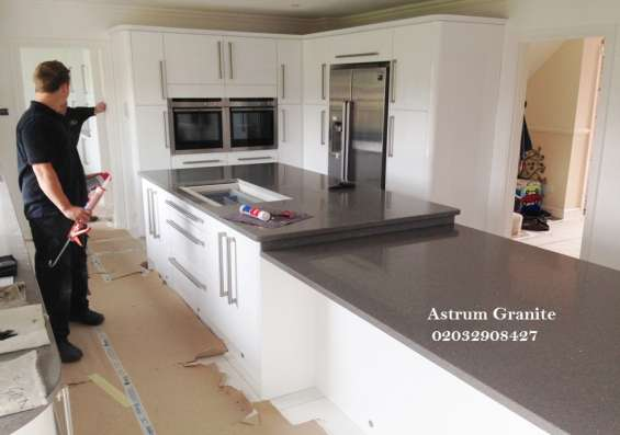 Pictures of Buy crema quartz kitchen worktop at best price in uk 5
