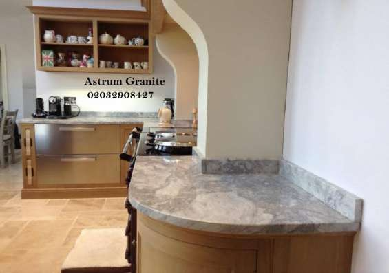 Pictures of Bianco eclipse granite kitchen worktop at affordable in london 5
