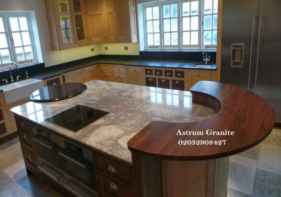 Pictures of Bianco eclipse granite kitchen worktop at affordable in london 4