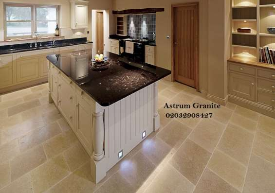 Pictures of Bianco eclipse granite kitchen worktop at affordable in london 7