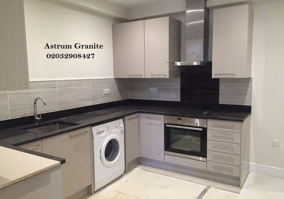 Pictures of Bianco eclipse granite kitchen worktop at affordable in london 9